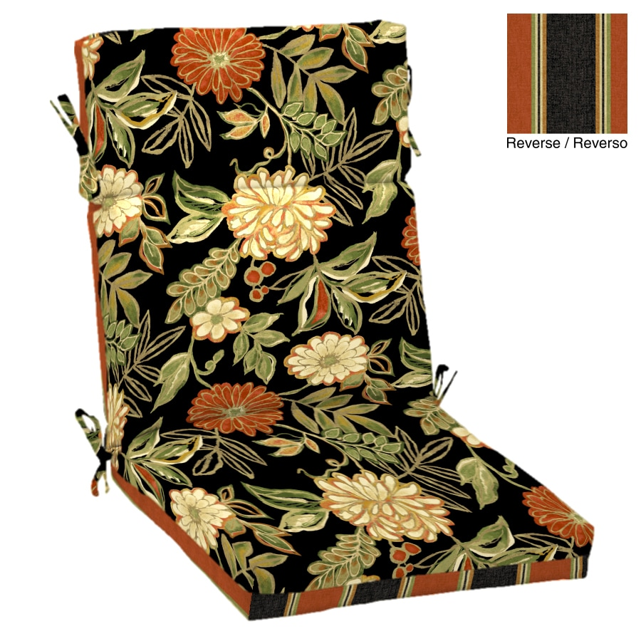 Garden Treasures Floral Cushion For High-Back Chair