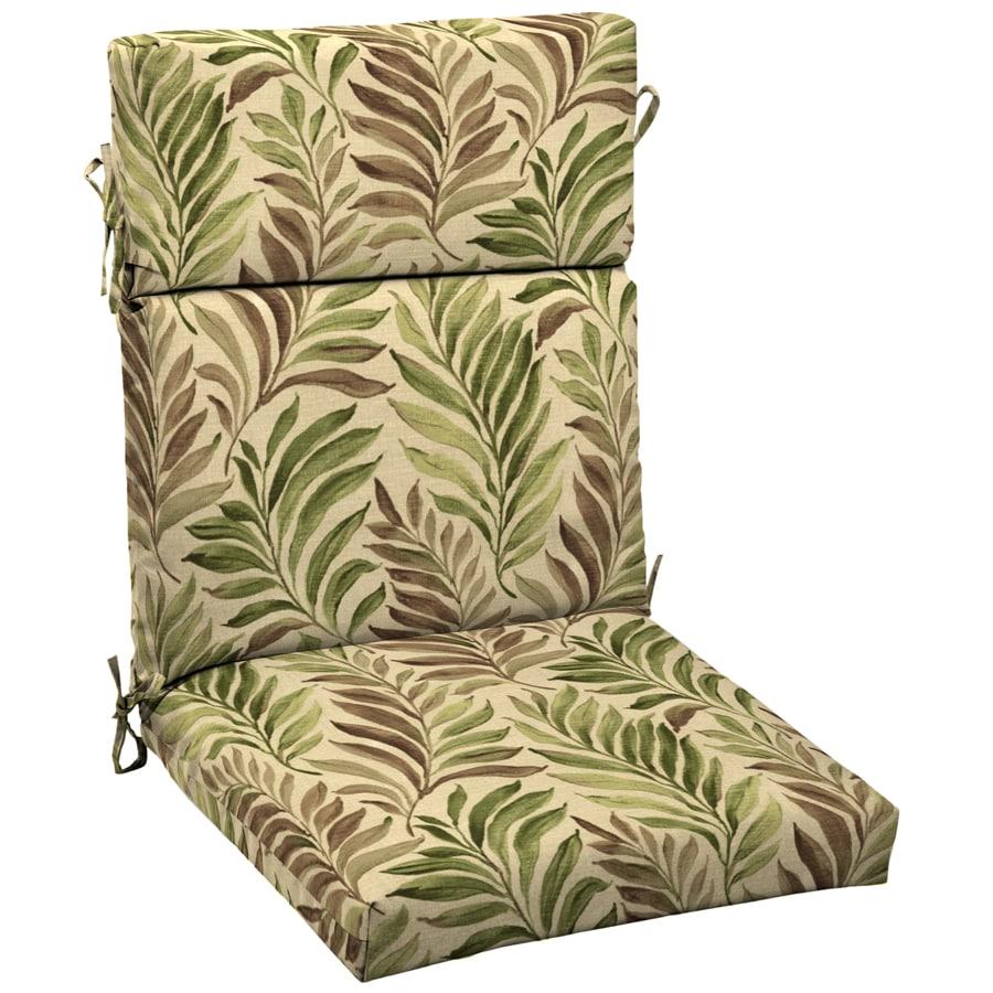 Garden Treasures 46-in L x 22-in W Leaf Dark Green Tropical Chair Cushion