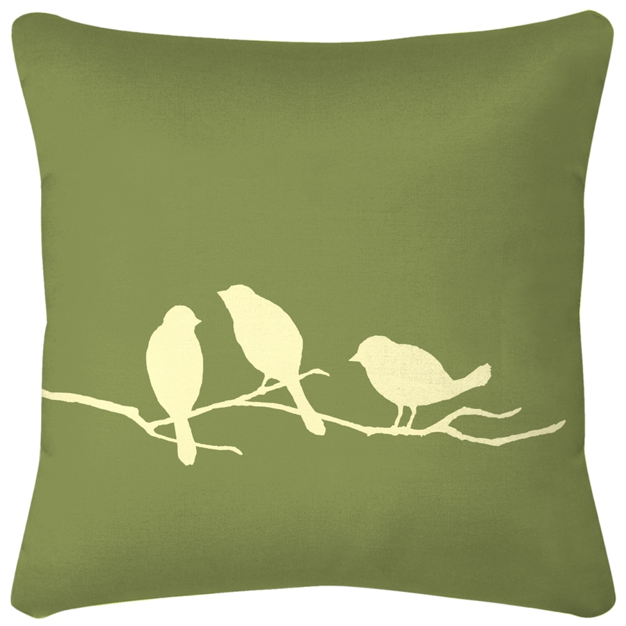 3 Birds New Green Floral UV-Protected Outdoor Decorative Pillow