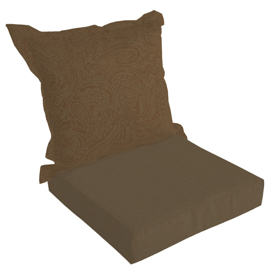 allen + roth 45-in L x 24-in W Rust Texture Patio Chair Cushion