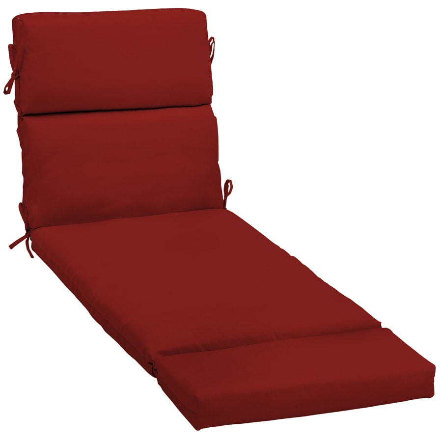 Shop garden treasures red red solid standard patio chair for Chaise longue cushion