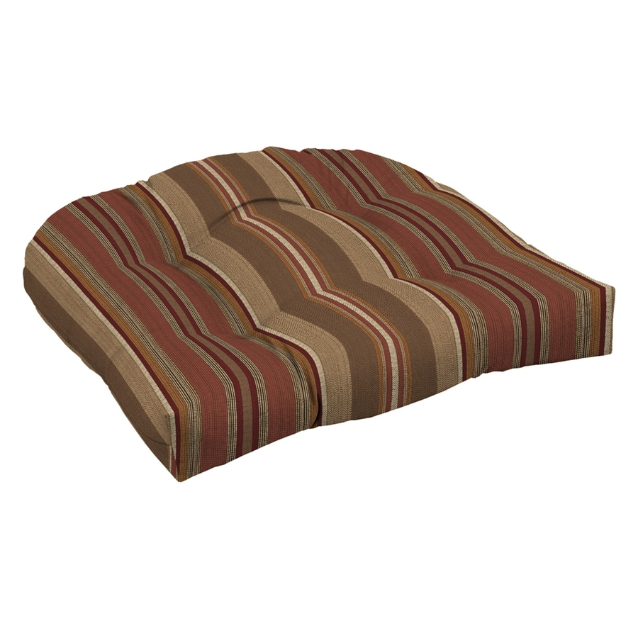 Allen + Roth Stripe Chili Stripe Chili Stripe Standard Patio Chair Cushion