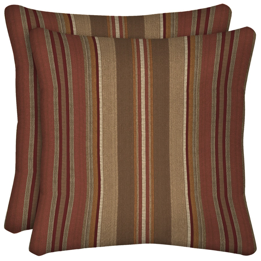 Arden Outdoor Chili and Striped Square Throw Pillow Outdoor Decorative Pillow
