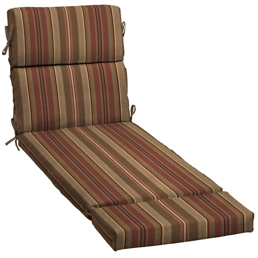 allen + roth Stripe Standard Patio Chair Cushion for Chaise Lounge