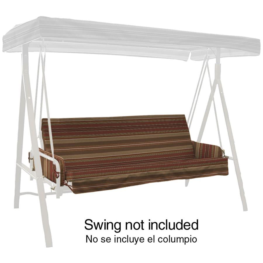 allen + roth Chili Stripe Cushion For Porch Swing