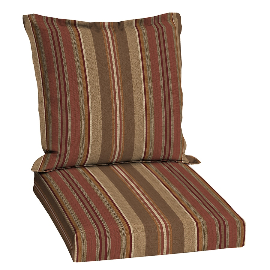 allen + roth Chili Stripe Cushion For Universal