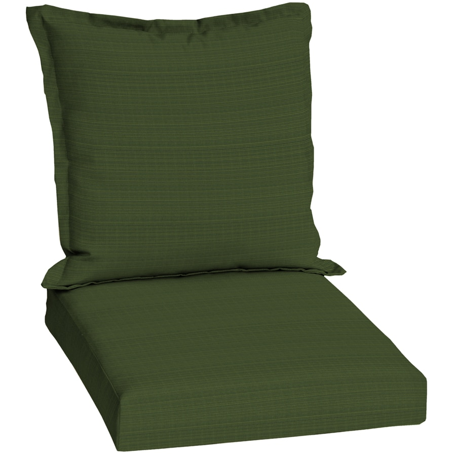 Shop Sunbrella Dupione Palm Green Solid Patio Chair Cushion At