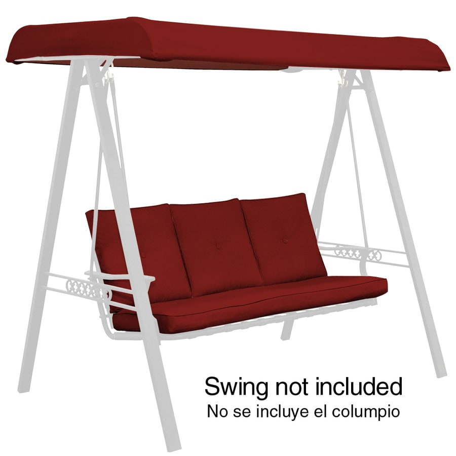 Arden Outdoor Red Solid Cushion For Porch Swing