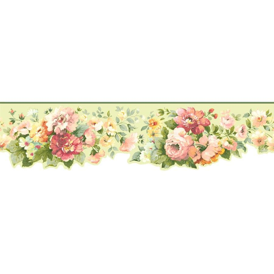 Inspired By Color 5-in Multicolor Prepasted Wallpaper Border