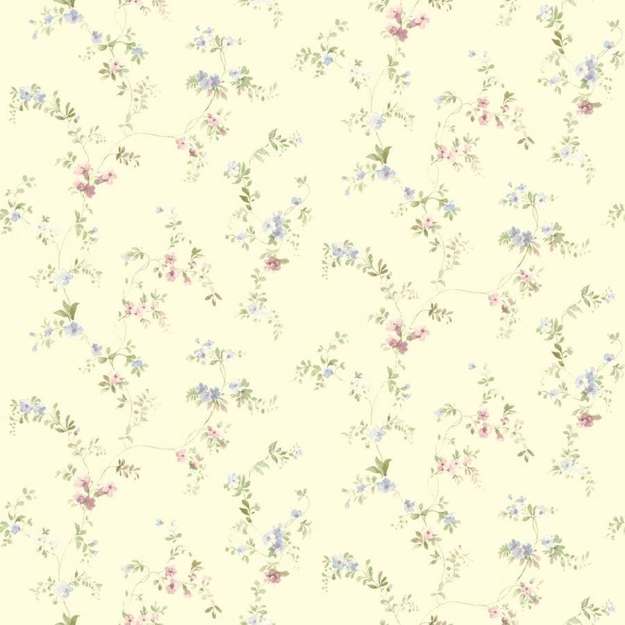 Inspired By Color Yellow and Blue Paper Floral Wallpaper