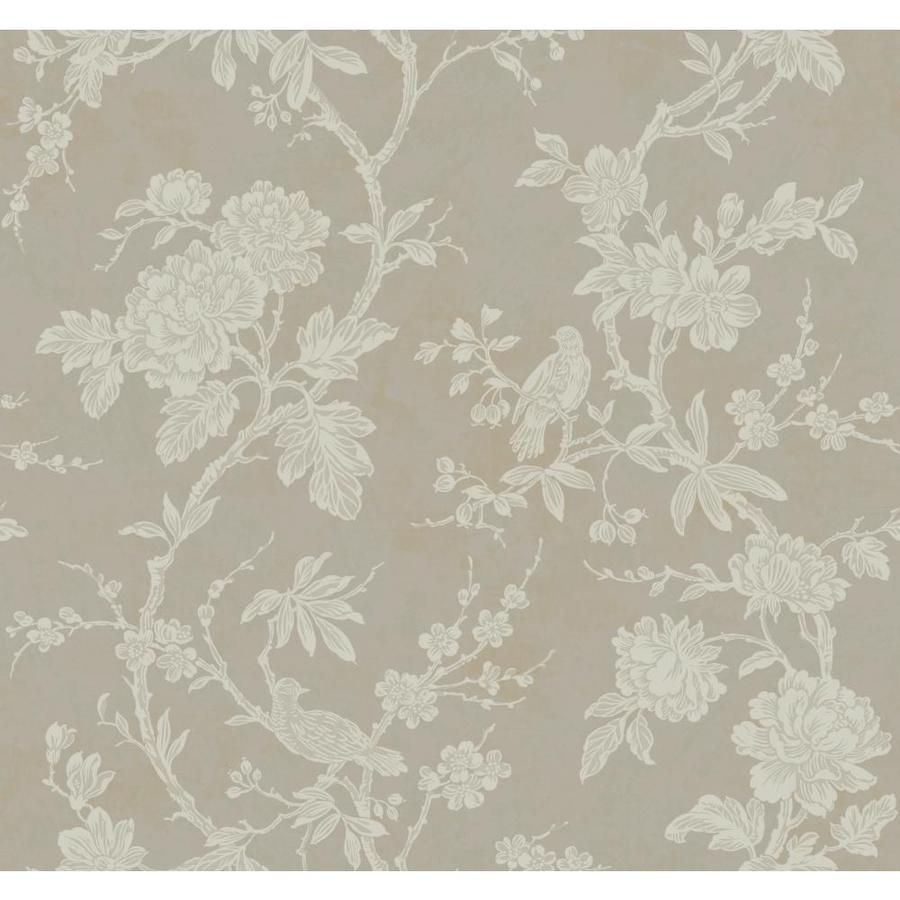 Inspired By Color Gray Paper Floral Wallpaper