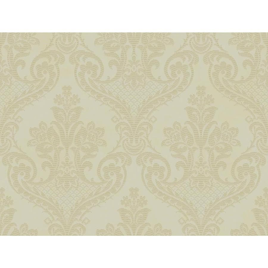 Inspired By Color Metallics Book Green Paper Textured Damask Wallpaper