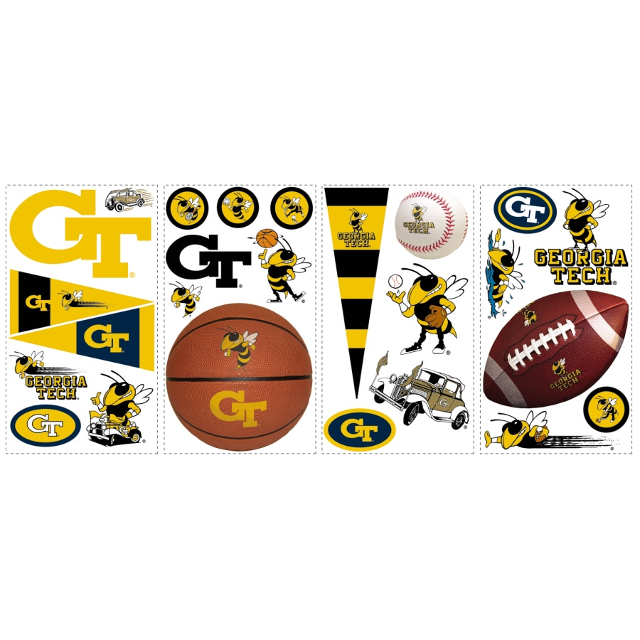 RoomMates Georgia Tech Peel and Stick Applique