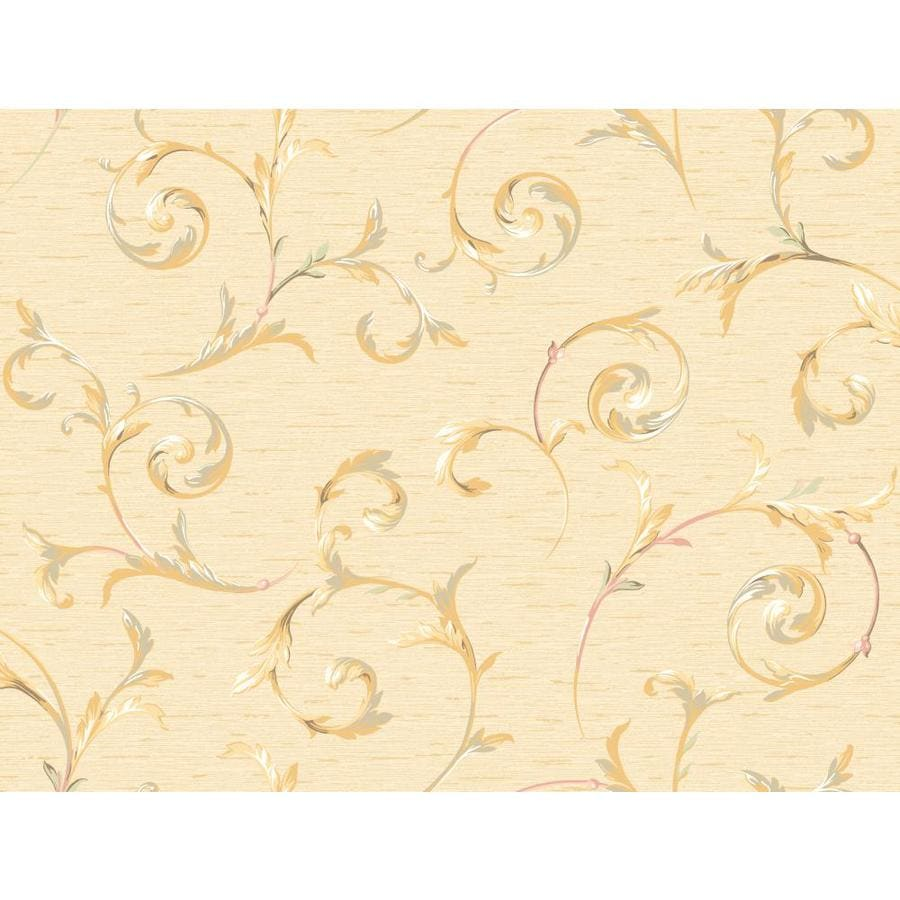 Inspired By Color Orange and Yellow Book Peach Paper Scroll Wallpaper