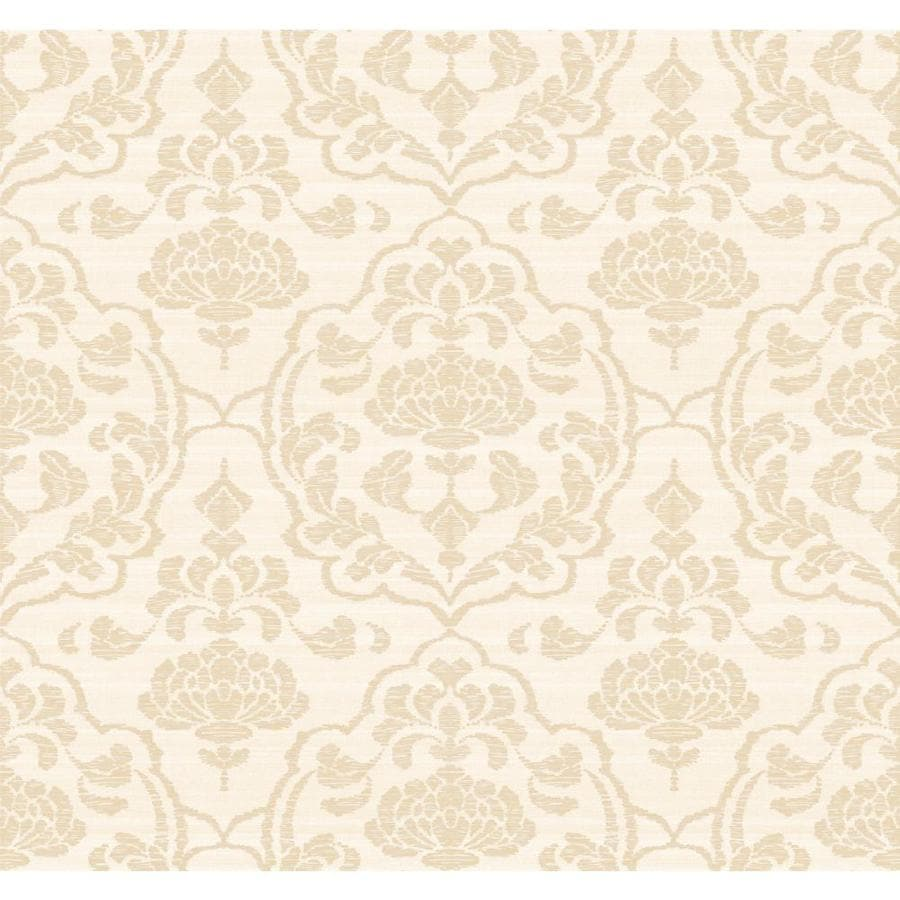 York Wallcoverings Beige Paper Damask Wallpaper
