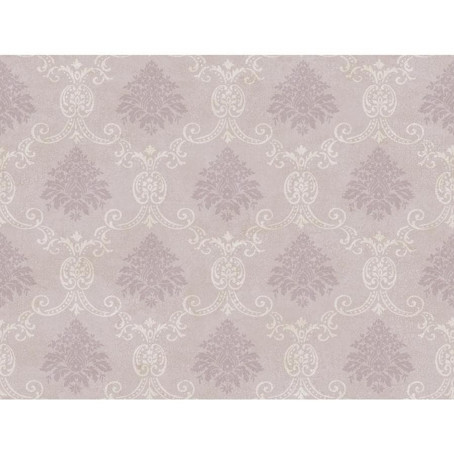 Inspired By Color Purple and White Paper Damask Wallpaper