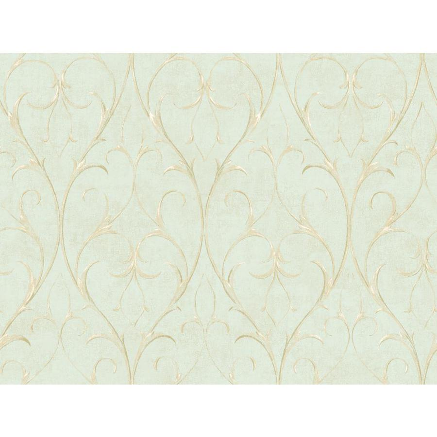 Inspired By Color Green and Ivory Paper Wallpaper