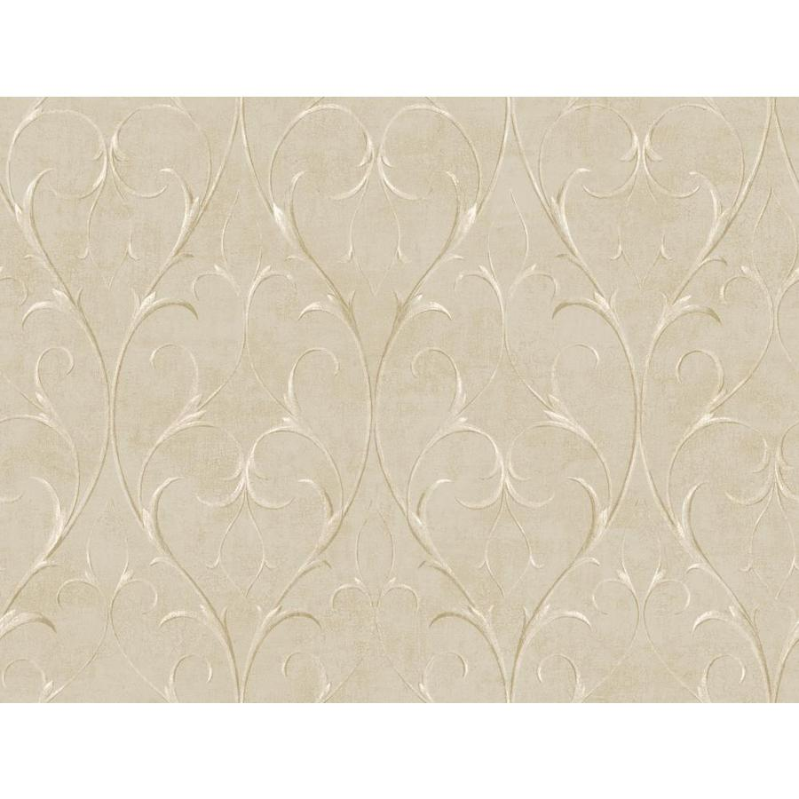 Inspired By Color Metallics Book Tan Paper Scroll Wallpaper