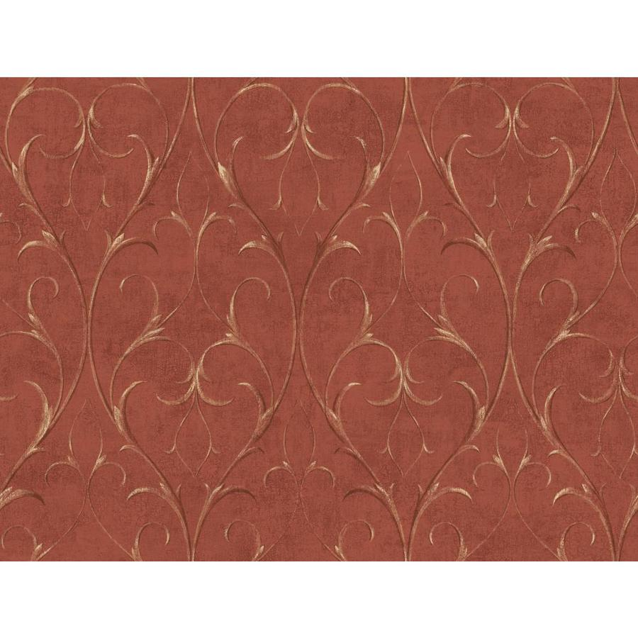Inspired By Color Red Book Red and Brown Paper Scroll Wallpaper