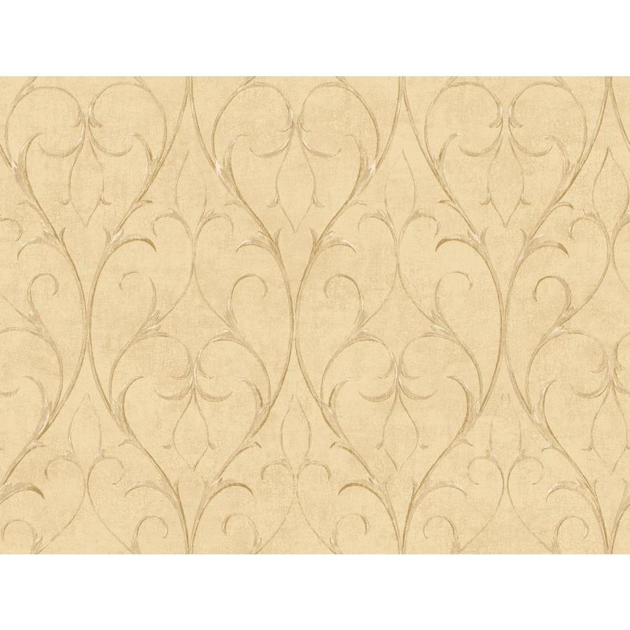 York Wallcoverings Beige Book Beige Paper Scroll Wallpaper
