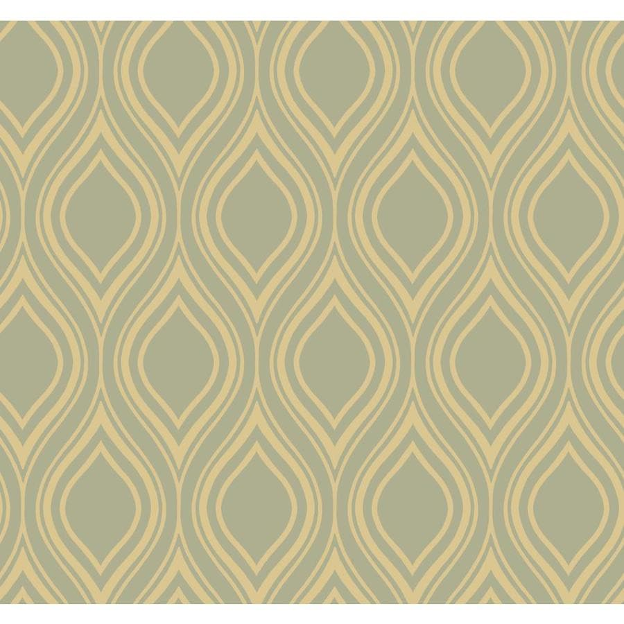 Inspired By Color Metallics Book Green and Yellow Paper Textured Geometric Wallpaper
