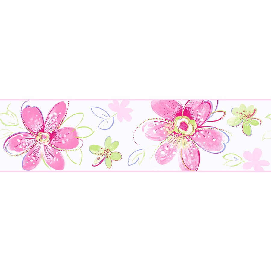 Inspired By Color Kids Book Pink Paper Floral Wallpaper