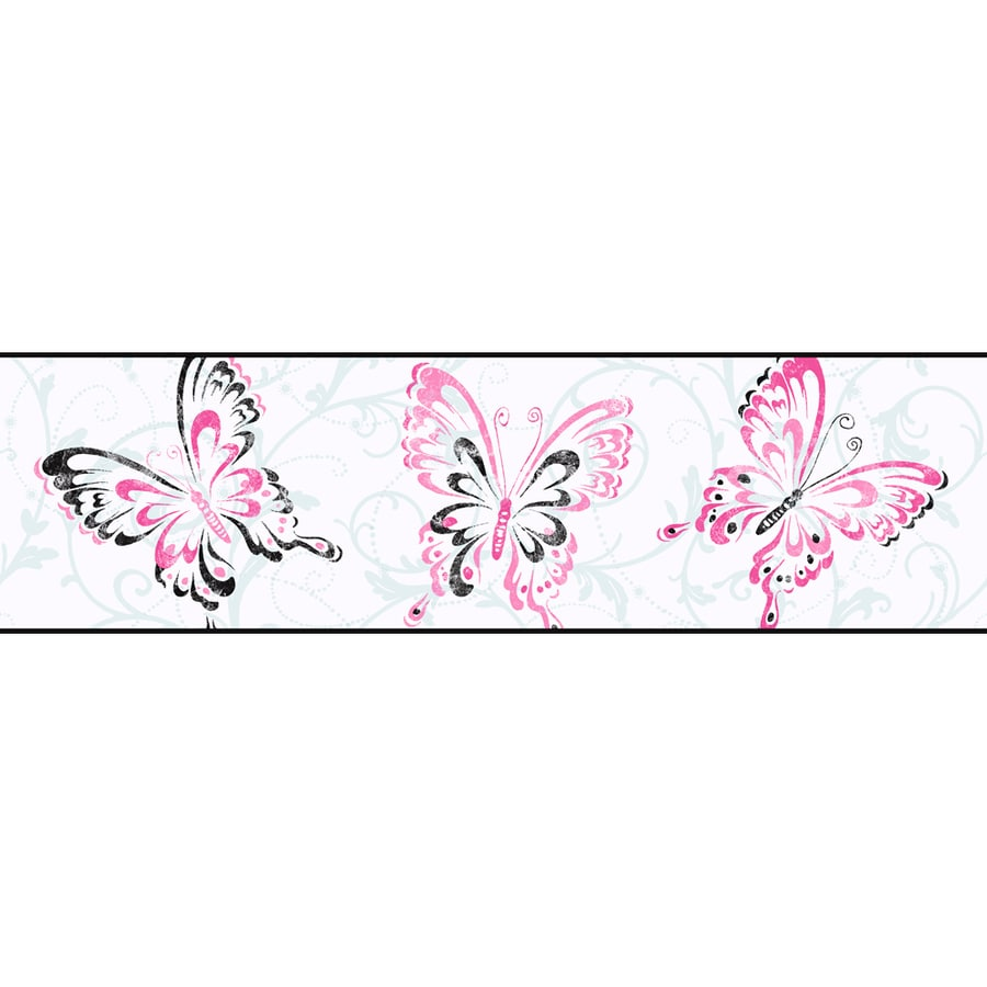 York Wallcoverings Kids Book Pink Paper Scroll Wallpaper