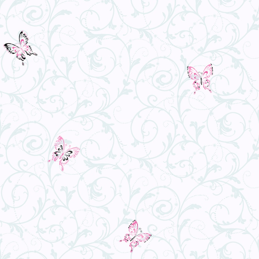 Inspired By Color Kids Book Pink Paper Scroll Wallpaper