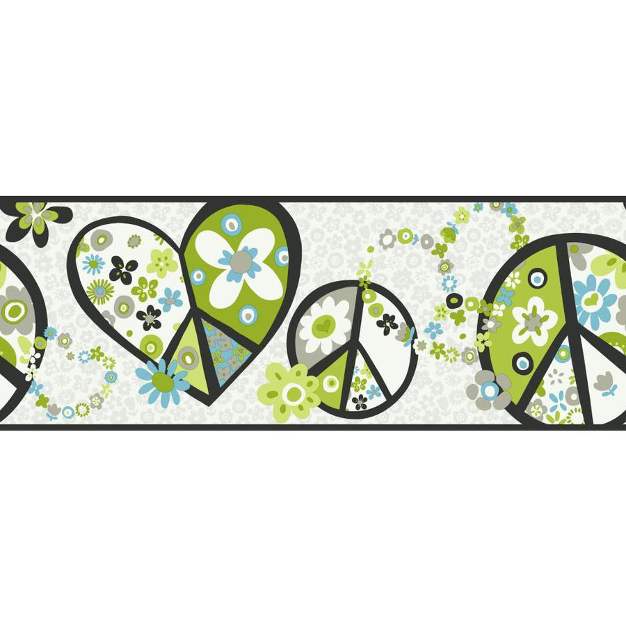 Inspired By Color 9-in Green Prepasted Wallpaper Border