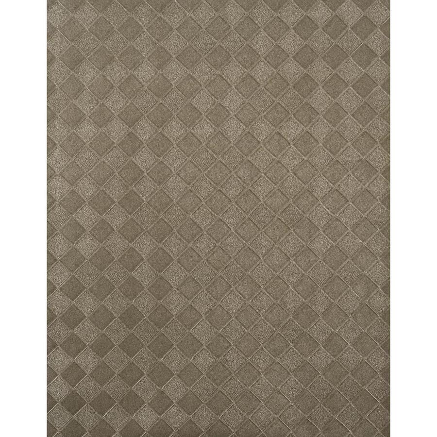 York Wallcoverings York Textures Silver Metallic Vinyl Textured Checks Wallpaper