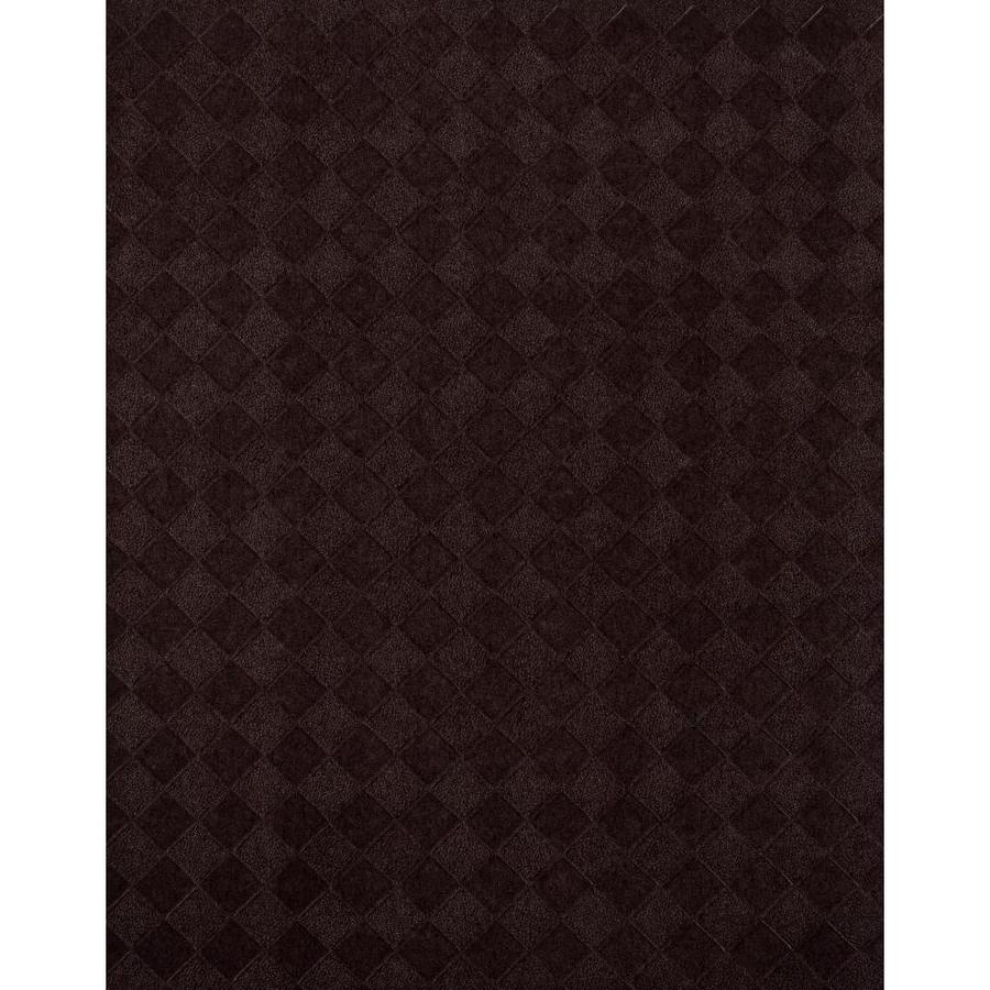 York Wallcoverings York Textures Peppercorn Black and Burgundy Vinyl Textured Checks Wallpaper