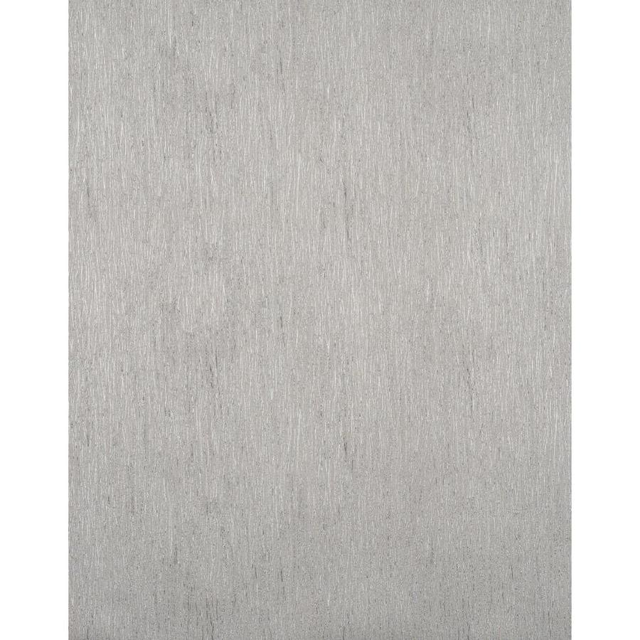 York Wallcoverings York Textures Silver and Silver Metallic Stripes Vinyl Textured Solid Wallpaper