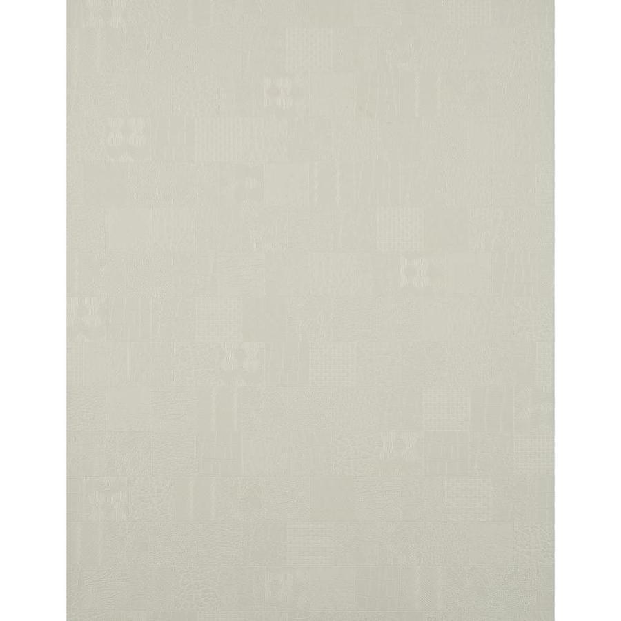 York Wallcoverings York Textures Ivory Vinyl Textured Checks Wallpaper