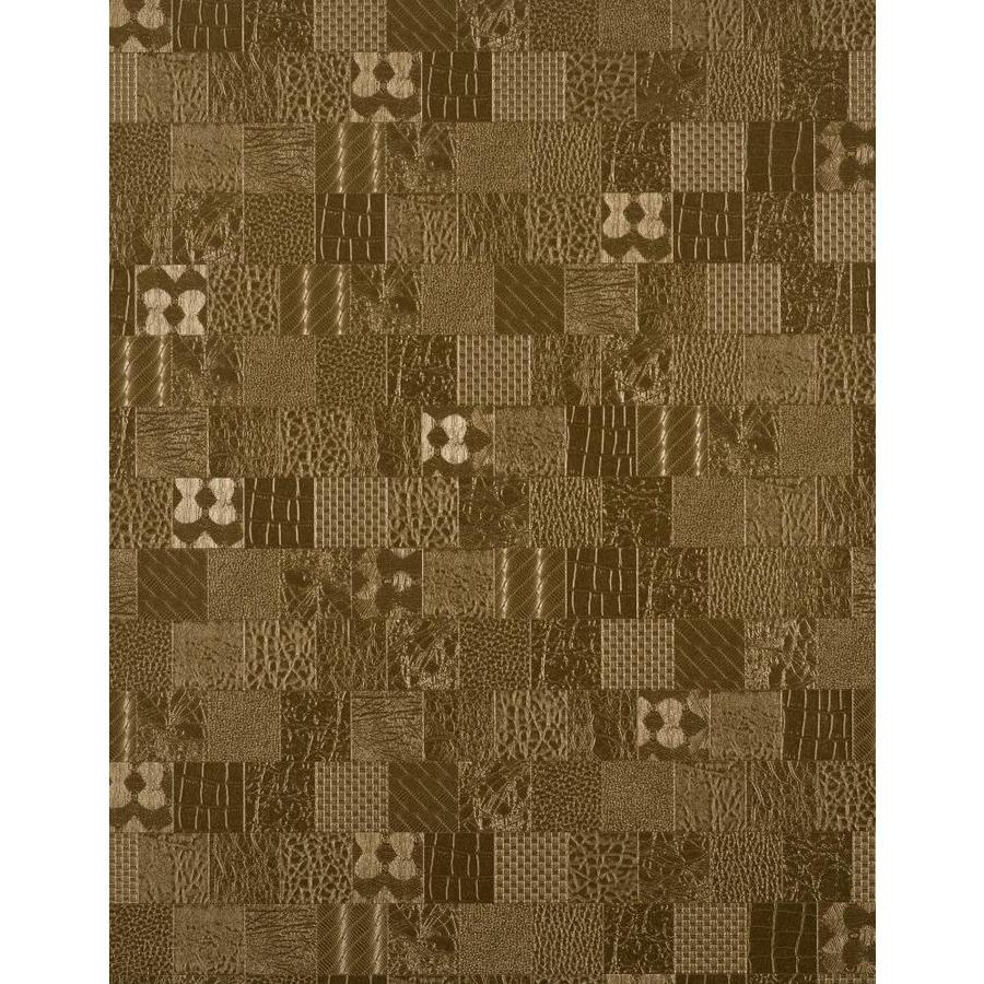 York Wallcoverings York Textures Brown Vinyl Textured Checks Wallpaper