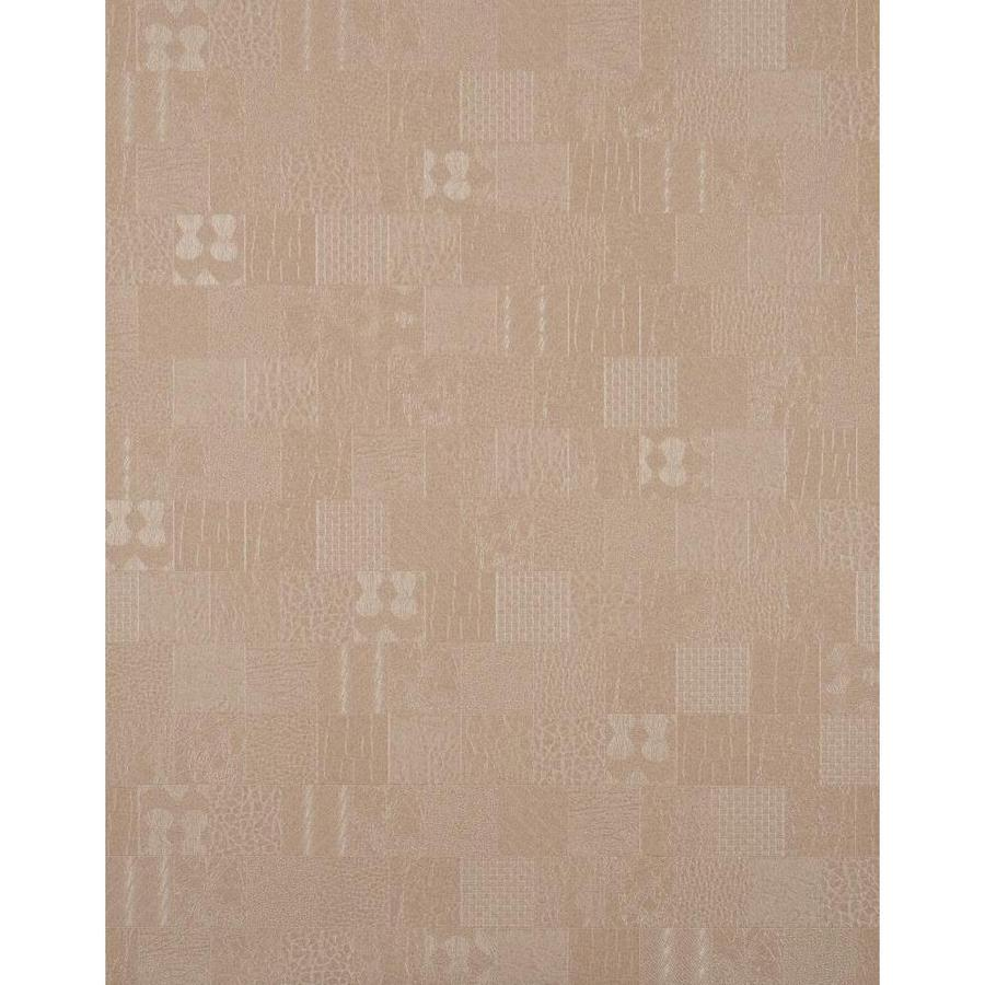 York Wallcoverings York Textures Dark Tan Vinyl Textured Checks Wallpaper