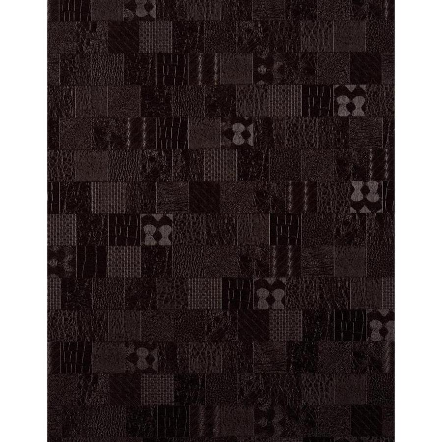 York Wallcoverings York Textures Dark Brown Vinyl Textured Checks Wallpaper