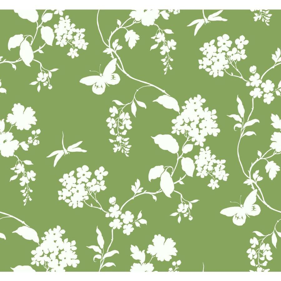 Inspired By Color Ashford Sihouettes Green Paper Ivy/Vines Wallpaper