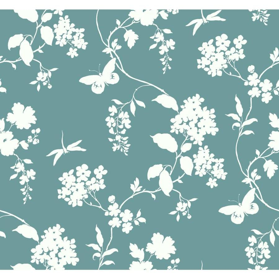 Inspired By Color Teal and White Paper Scenic Wallpaper