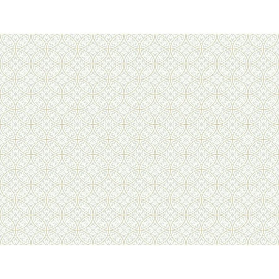 York Wallcoverings Ashford Sihouettes Beige Paper Geometric Wallpaper