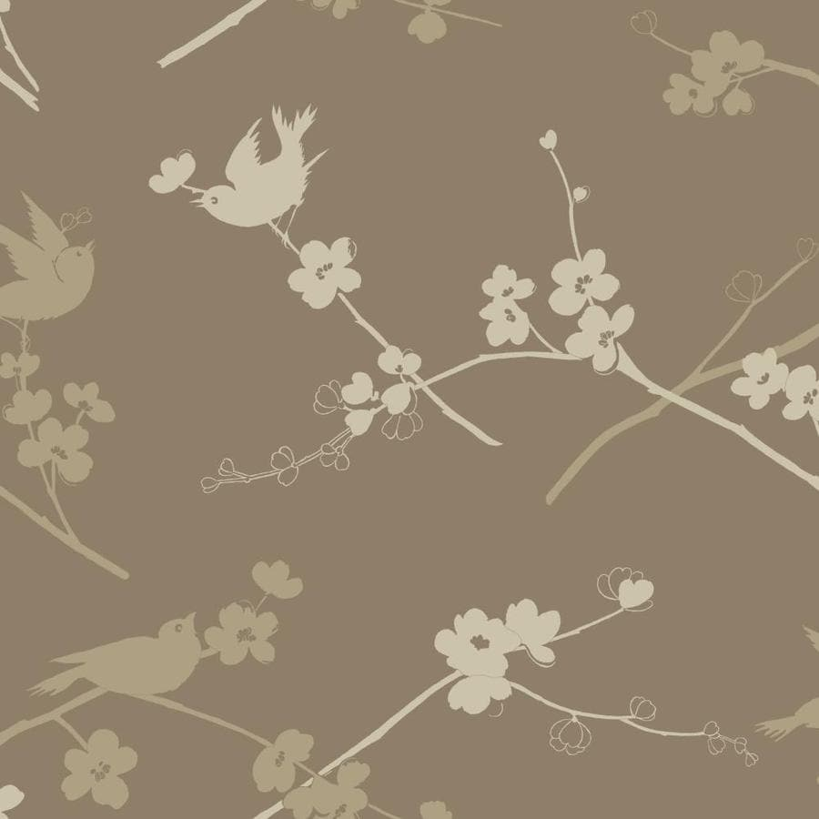 Inspired By Color Ashford Sihouettes Brown and Tan Paper Floral Wallpaper