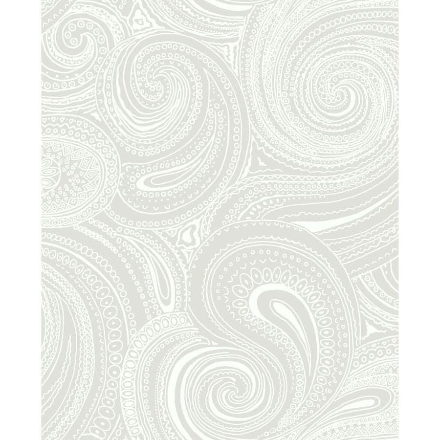 York Wallcoverings Gray Paper Paisley Wallpaper