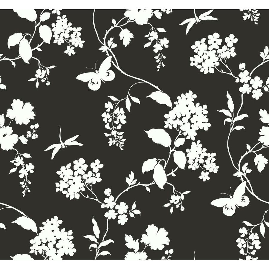 York Wallcoverings Black and White Paper Scenic Wallpaper