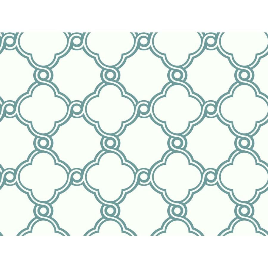 Inspired By Color Blue Book Teal and White Paper Textured Geometric Wallpaper