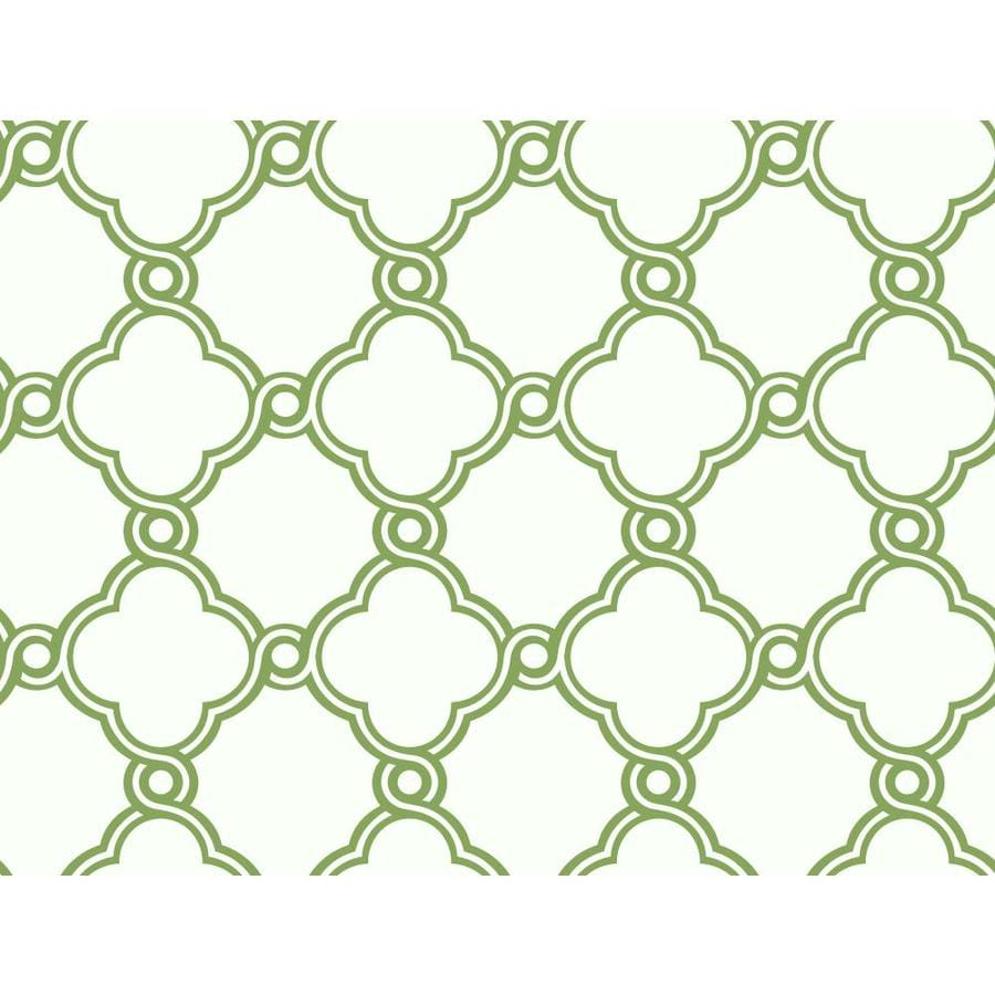 Inspired By Color Ashford Sihouettes Green and White Paper Geometric Wallpaper