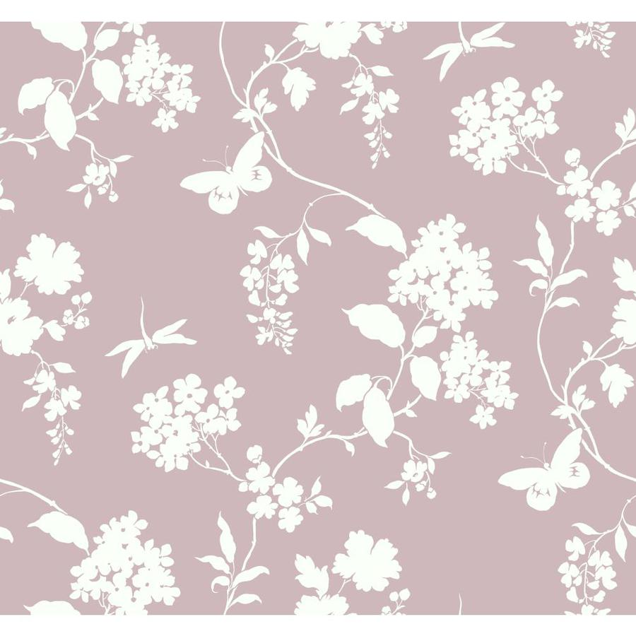 Inspired By Color Ashford Sihouettes Purple and White Paper Scenic Wallpaper