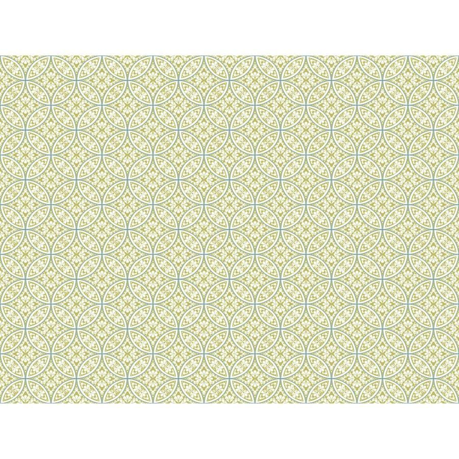 Inspired By Color Ashford Sihouettes Green Paper Geometric Wallpaper