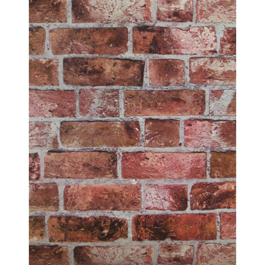 York Wallcoverings Brick, Red, Cement Gray, Burgundy and Stone Vinyl Wallpaper
