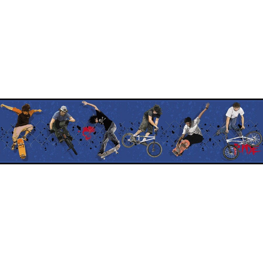 RoomMates Extreme Sports Peel And Stick Wallpaper Border