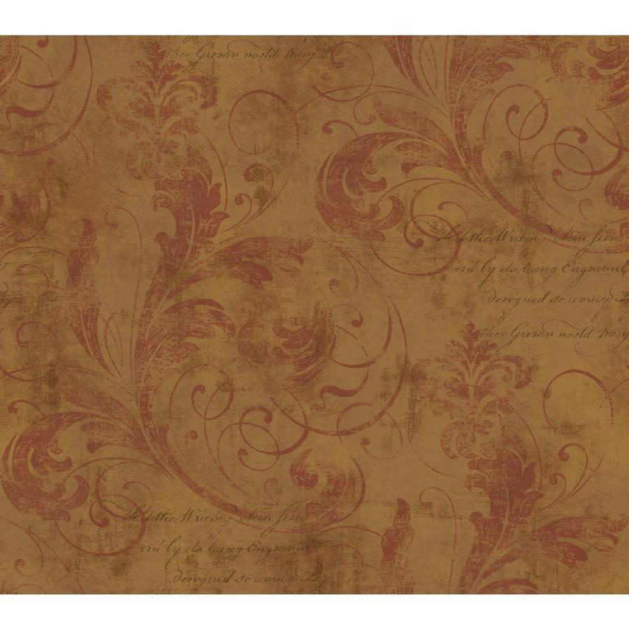Inspired By Color Metallics Book Red and Gold Paper Scroll Wallpaper