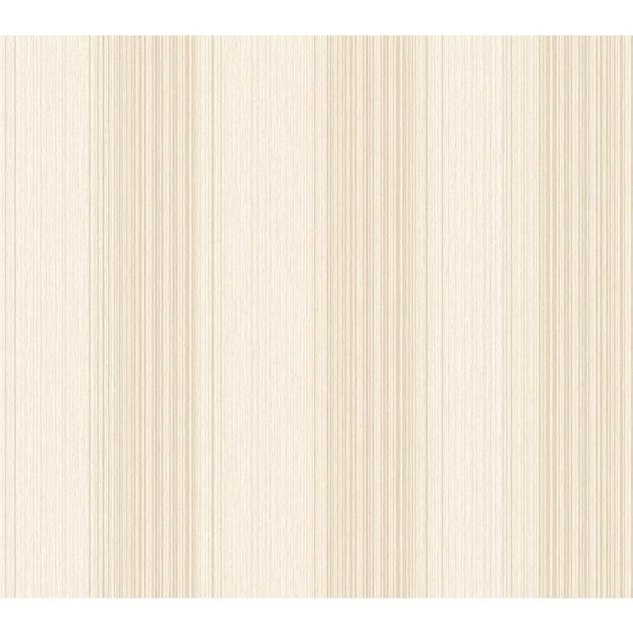 York Wallcoverings Silver, Beige Paper Stripes Wallpaper